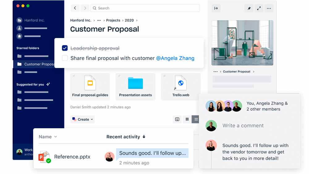 Dropbox Бизнес преимущества, обзор приложения Dropbox Business