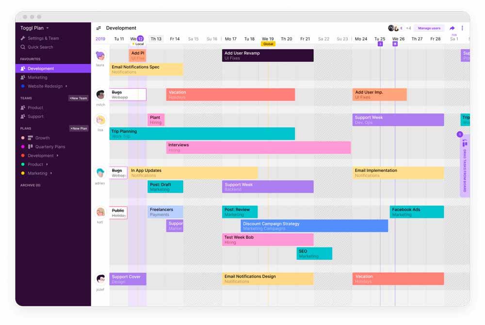 Toggl приложение для бизнеса, тайм трекер для компаний, бизнес приложения